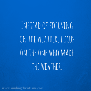 Instead of focusing on the weather,